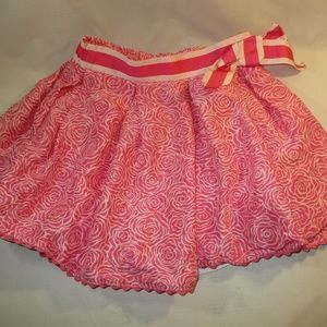 Lilly Pulitzer Silk Skirt Girls 7